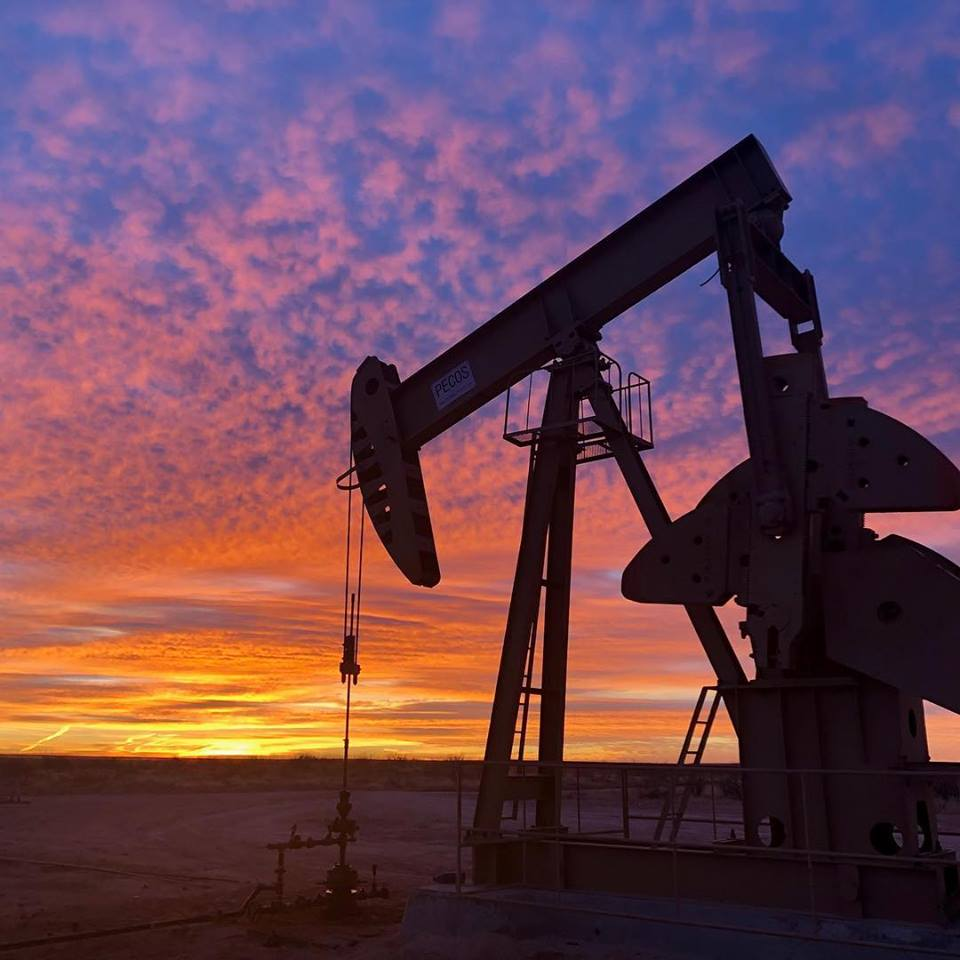 West Texas Oilfield Sunset