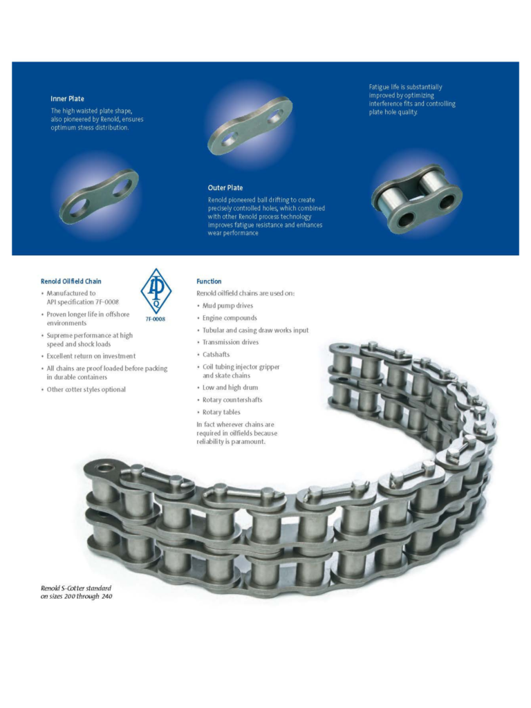 Renold plates and links for roller chain